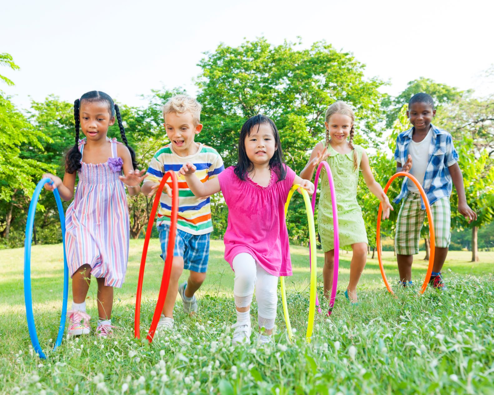cute-diverse-kids-playing-park